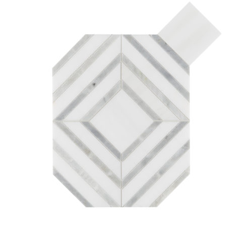 Alps Honed Polished Octagon Marble Mosaic