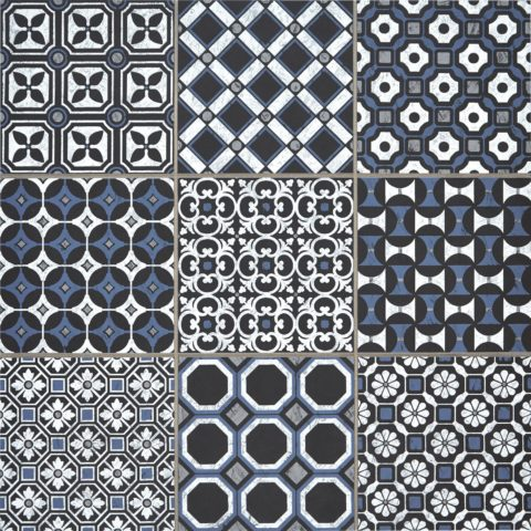 Baroque Black/Blue Decorative Porcelain