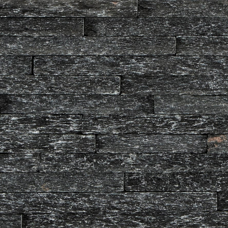 Black Quartzite Mini Splitface Tiles Mandarin Stone