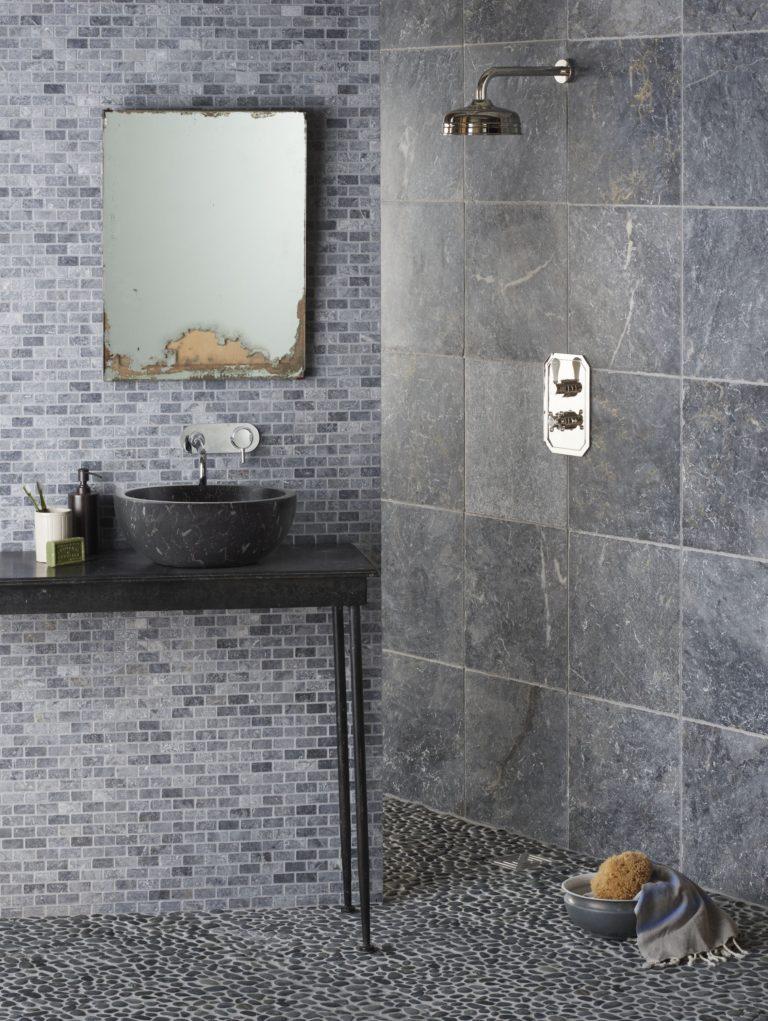Atlantic Grey Pebble Stone Tile Mandarin Stone