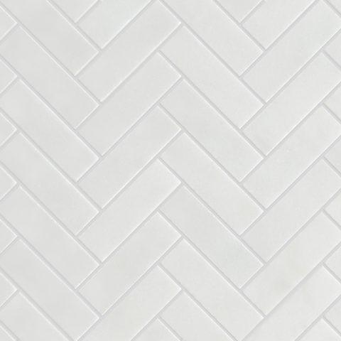 Calacatta Honed Marble Herringbone Mosaic