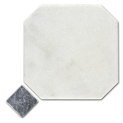 Calacatta Tumbled Marble Octagon