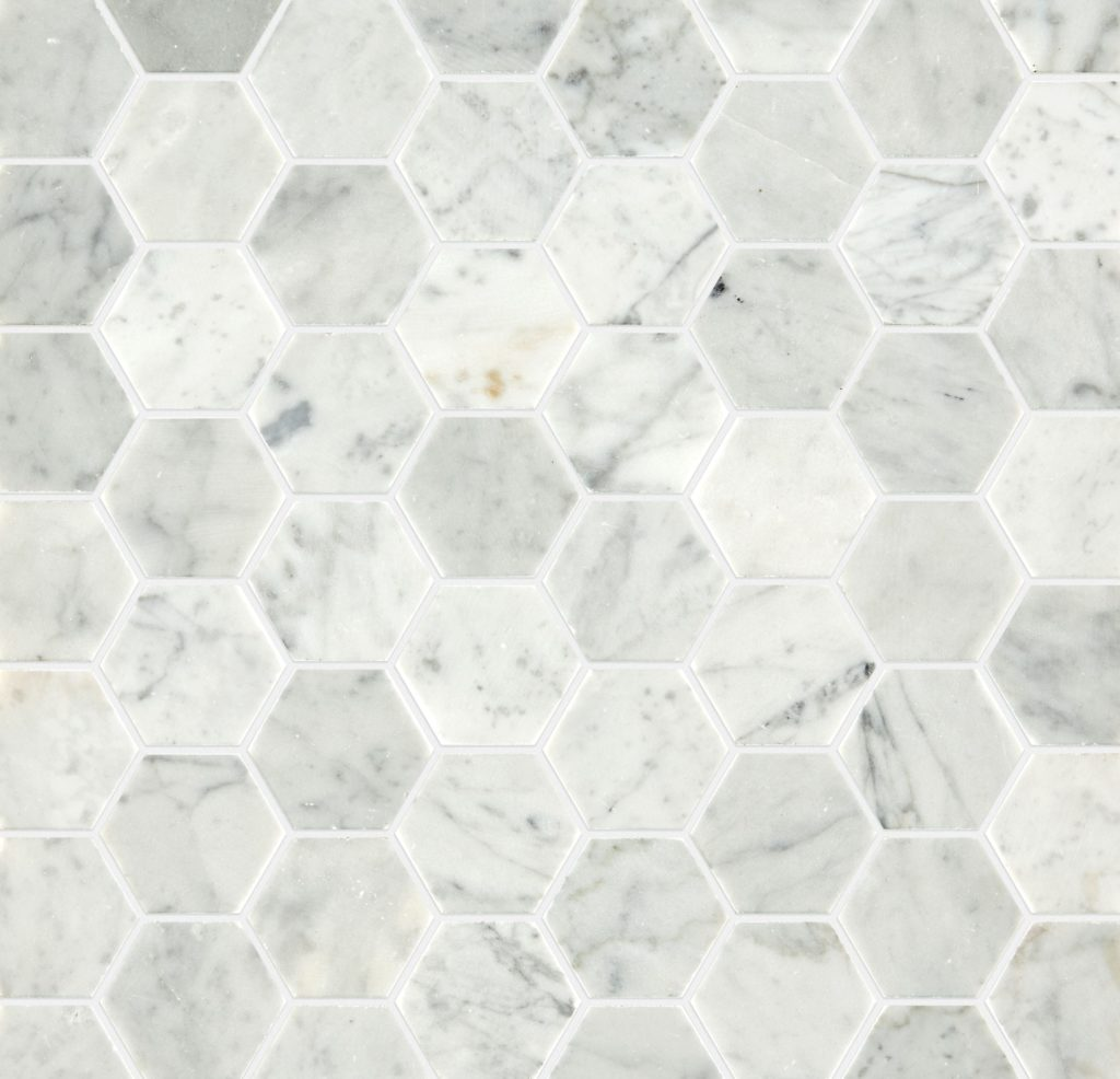 Carrara Honed Hexagon Marble Mosaic Previous