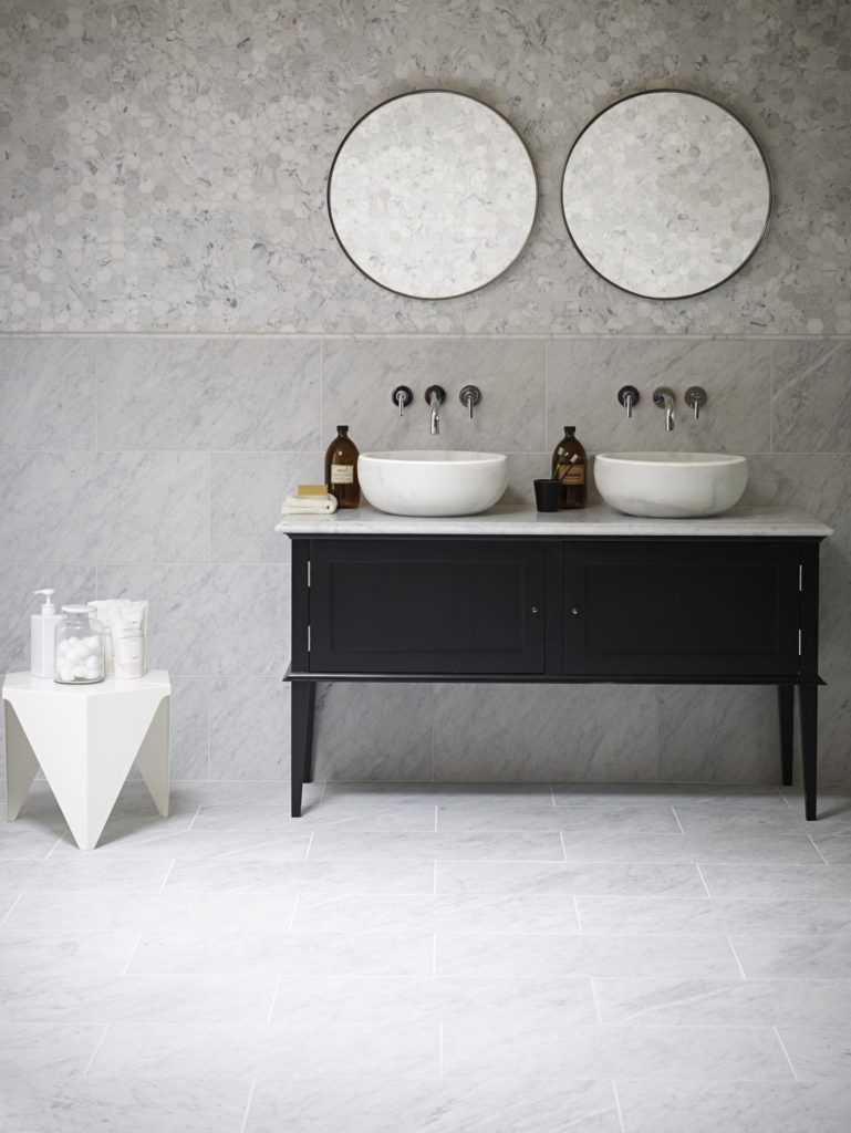 Vanity Unit With Chelsea Stone Vanity Top Mandarin Stone