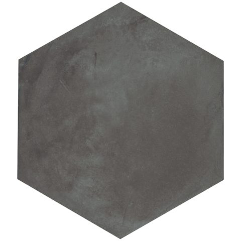 Casablanca Black Base Hexagon Decorative Porcelain