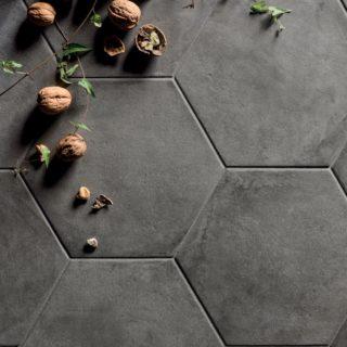 Hexagon Floor Wall Tiles Mandarin Stone