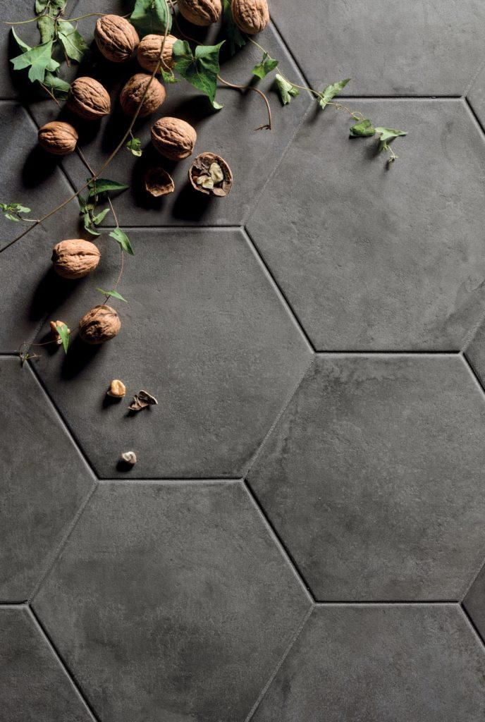 Casablanca Black Base Hexagon Decorative Porcelain Tiles