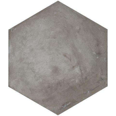 Casablanca Dark Grey Base Hexagon Decorative Porcelain