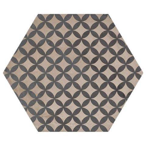 Casablanca Mono Decor 1/12 Hexagon Decorative Porcelain