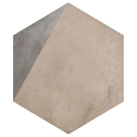 Casablanca Mono Hexagon Decor 11/12 Decorative Porcelain