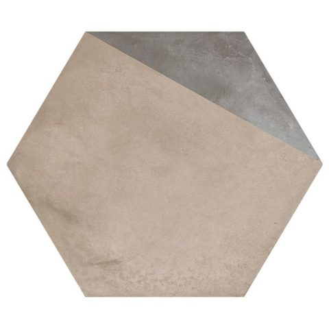Casablanca Mono Decor 11/12 Hexagon Porcelain