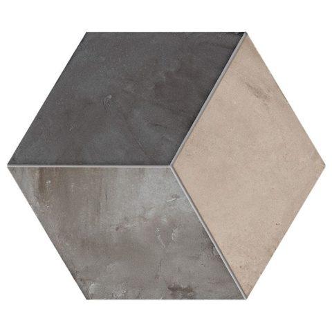 Casablanca Mono Decor 12/12 Hexagon Decorative Porcelain