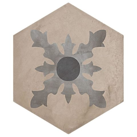 Casablanca Mono Hexagon Decor 2/12 Decorative Porcelain
