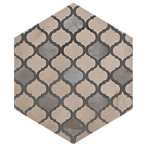 Casablanca Mono Hexagon Decor 3/12 Decorative Porcelain