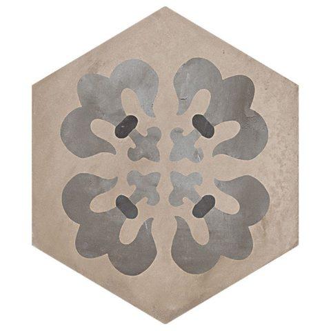 Casablanca Mono Hexagon Decor 5/12 Decorative Porcelain
