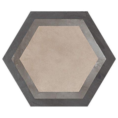 Casablanca Mono Decor 7/12 Hexagon Decorative Porcelain