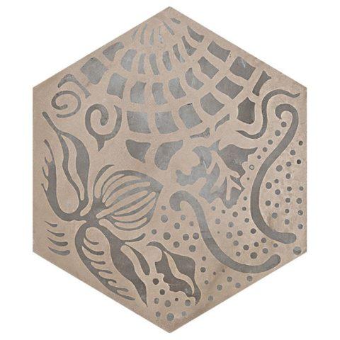 Casablanca Mono Hexagon Decor 9/12 Decorative Porcelain