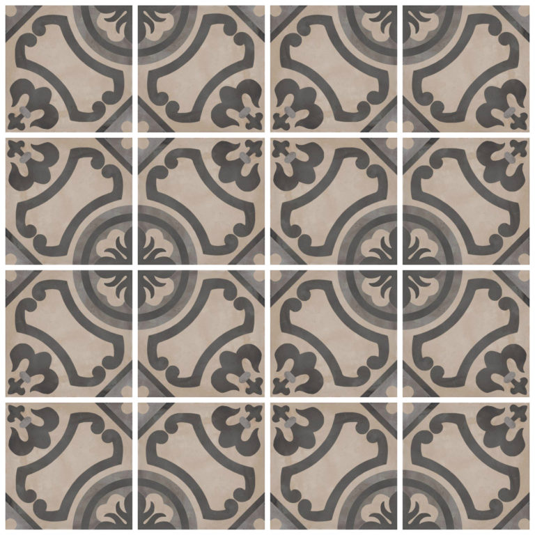 Casablanca Mono Square Decor Tiles