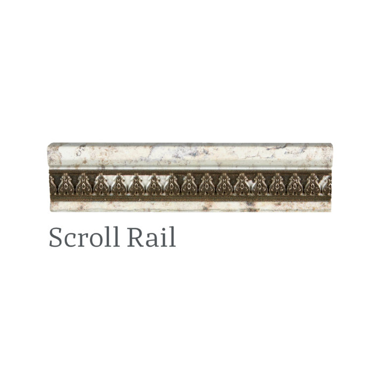 Demelza Tin Scroll Rail