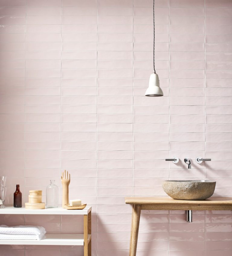 Gelato rose gloss decorative collection tiles mandarin stone Bathroom tiles ideas nz