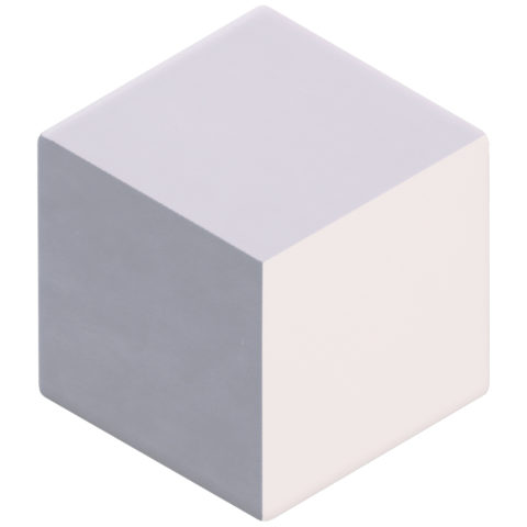 Geometric Cube Decor Dove/Smoke/White Porcelain Hexagon