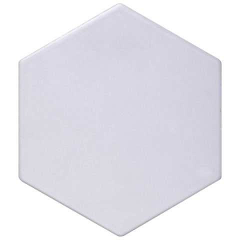 Geometric Dove Matt Porcelain Hexagon