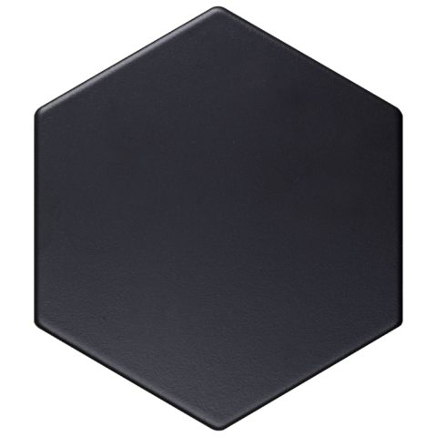 Geometric Ebony Matt Porcelain Hexagon