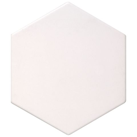 Geometric White Matt Porcelain Hexagon