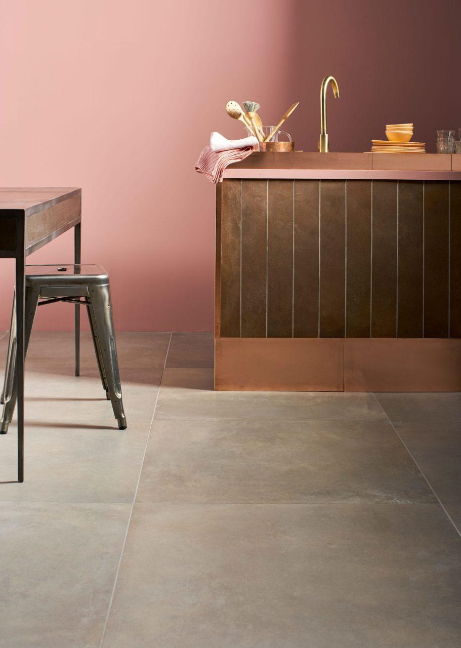 Industry Copper Porcelain Tile Mandarin Stone