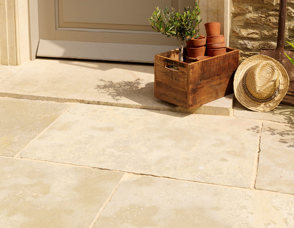 Mandalay Buff Riven Limestone In Situ