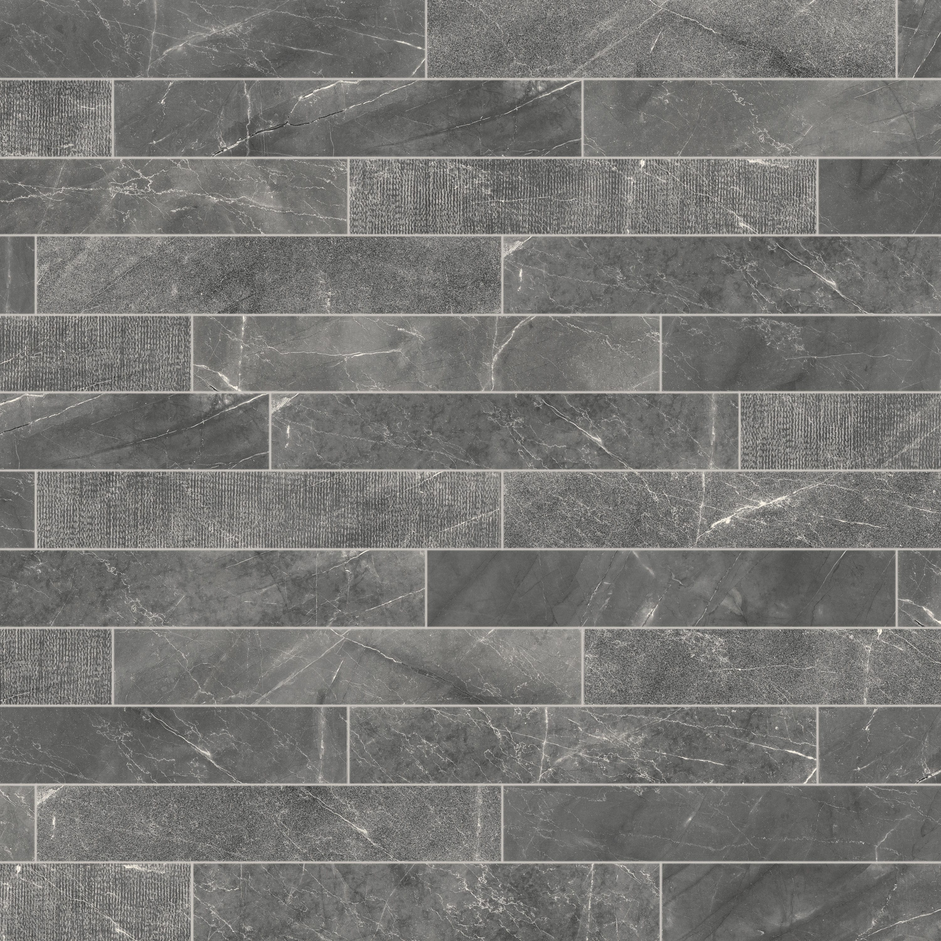 Urban Cement Grey Stone Effect Ceramic Wall Floor Tile: Mimica Fumo Textured Mix Porcelain Tiles