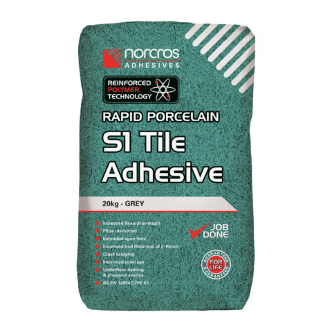 Norcros Rapid Flex S1 Grey Wall & Floor Adhesive