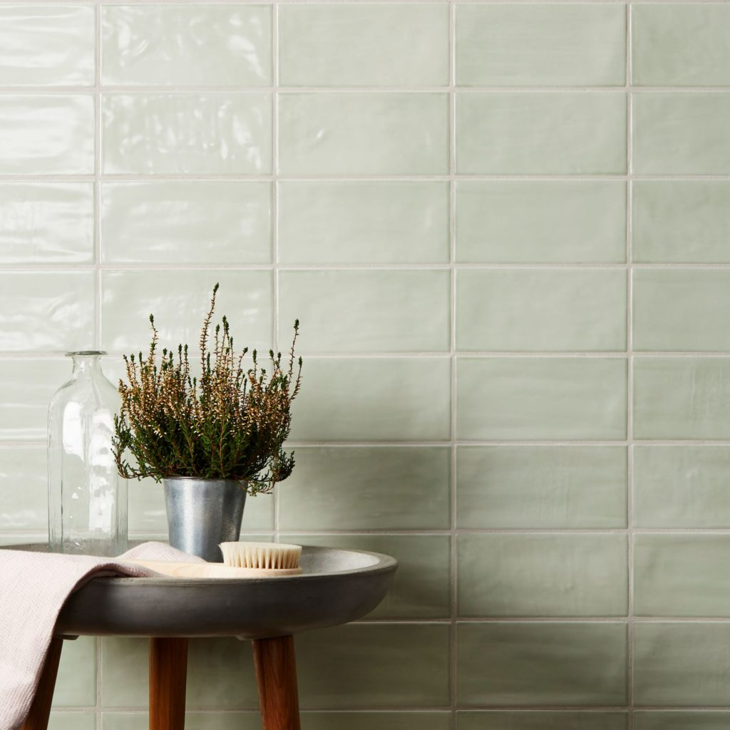 Paintbox Sage Gloss Tile In Situ (1)