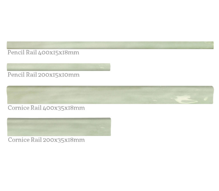 Paintbox Sage Mouldings Rail Options