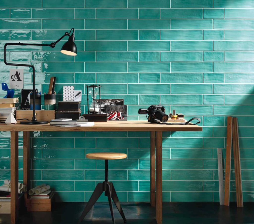 Paintbox Turquoise Gloss Colour Palette Wall Tile