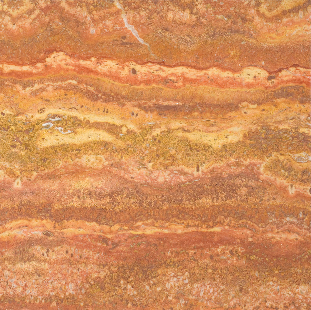 Persian Red Vein-Cut Polished Filled Travertine