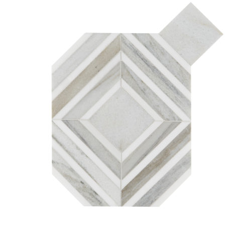 Pyrenees Honed Polished Octagon Marble Mosaic