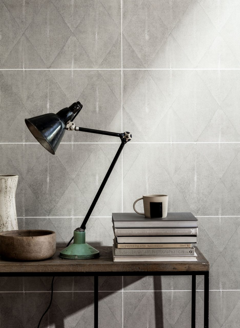 Shagreen Ocean Matt Decorative Porcelain