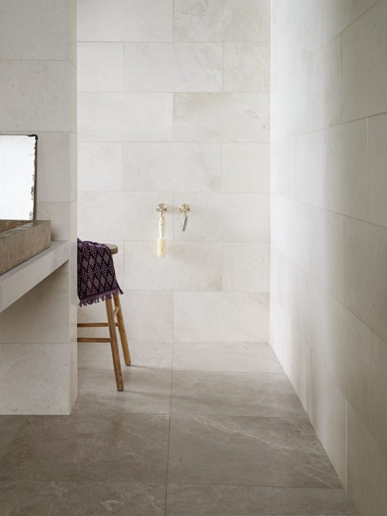White Emperador Honed Marble Tile   Mandarin Stone