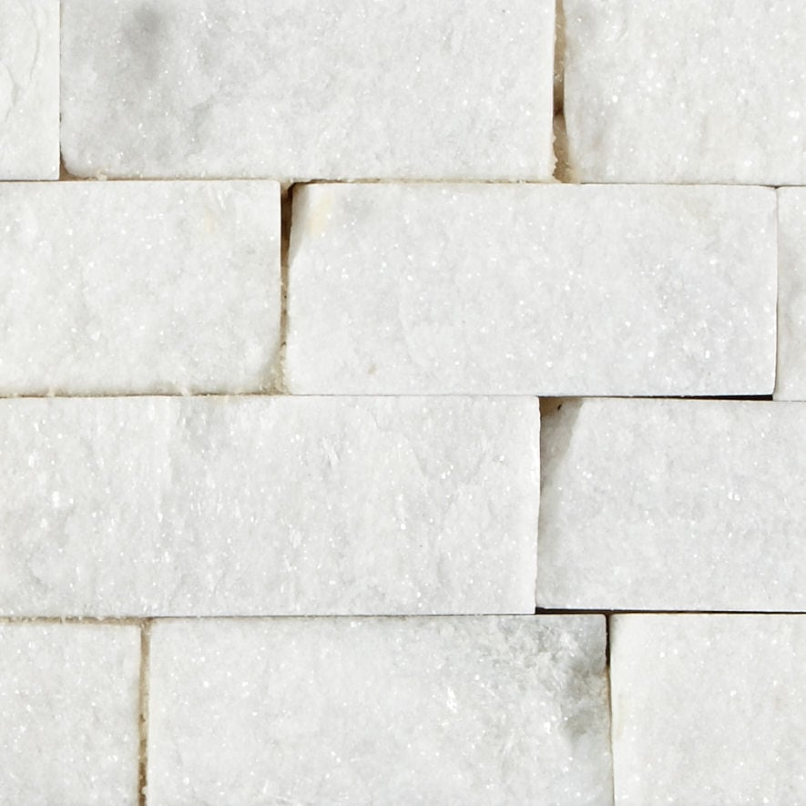 White Quartzite Maxi Splitface Tiles | Mandarin Stone