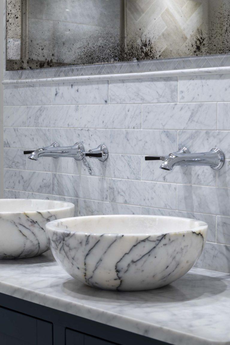 Carrara Honed Marble Tiles Mandarin Stone