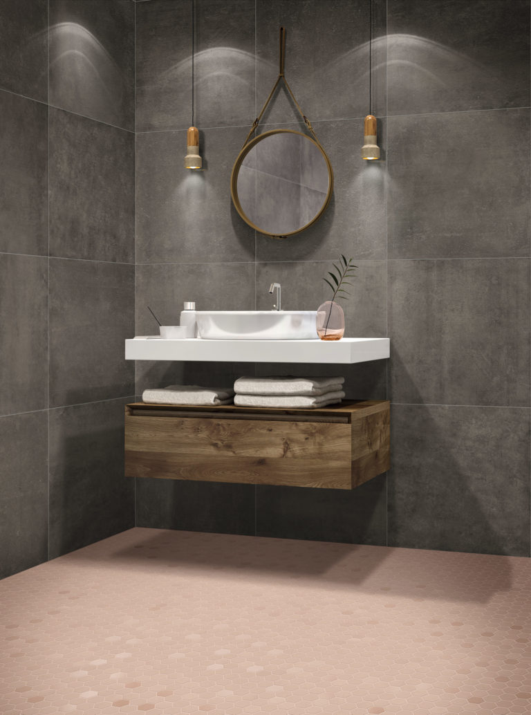 minimalist-hexa-blush-porcelain-mosaic-bathroom-tiles