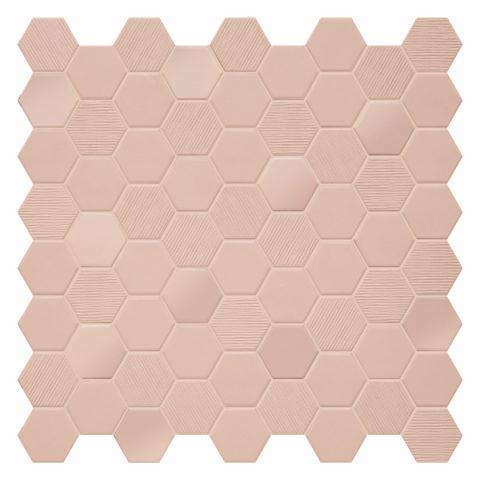 Hexa Blush Porcelain Mosaic