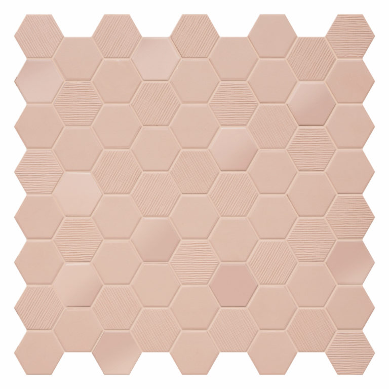 Hexa Blush Porcelain Mosaic Tiles