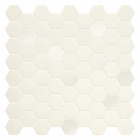 Hexa Cotton Porcelain Mosaic