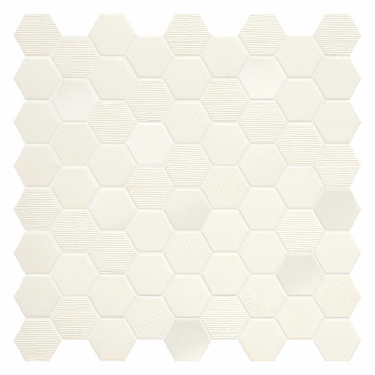 Hexa Cotton Porcelain Mosaic Tiles