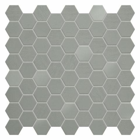Hexa Sage Porcelain Mosaic
