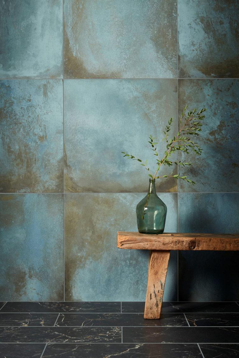 Verdigris Porcelain Tile Mandarin Stone