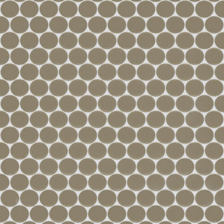 Plaza Gris Penny Round Marble Mosaic Tile Swatch