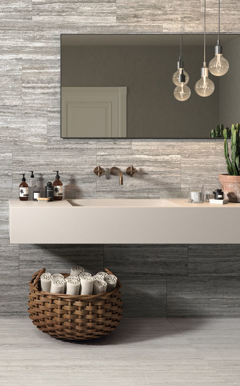 Rocco Grey Linear & Rocco White Linear Porcelain